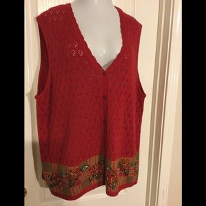 Napa valley Sweater Women 2x sleeveless top 5/25